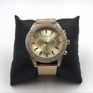 Bebe studded watch
